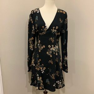 NWT wild fable black floral long sleeve dress